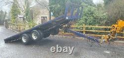 Tiltbed Bale Flat Trailer Tractor Digger Dumper John Deere massey ferguson ford