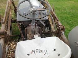 Tractor Massey Ferguson Grey Ford David Brown Front End Loader