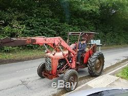 Vintage Tractor, Barn Find, Massey Ferguson 35x, With Rare 4wt Sandwich Creeper Box